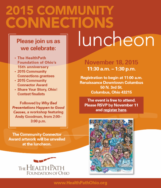 Join us for the 2015 HealthPath Foundation of Ohio Community Connections Luncheon