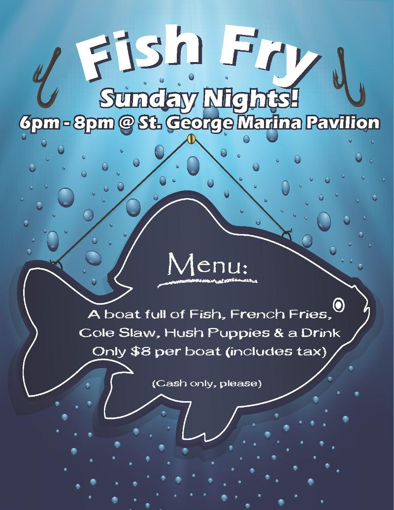 This week in fairfield glade for Fish fry menu