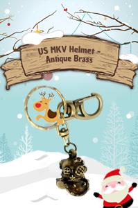 US MKV Helmet - Antique Brass