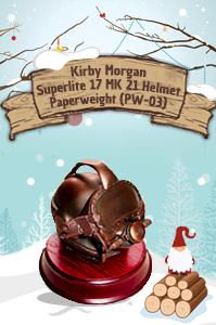 Kirby Morgan Superlite 17 MK 21 Helmet Paperweight (PW-03)