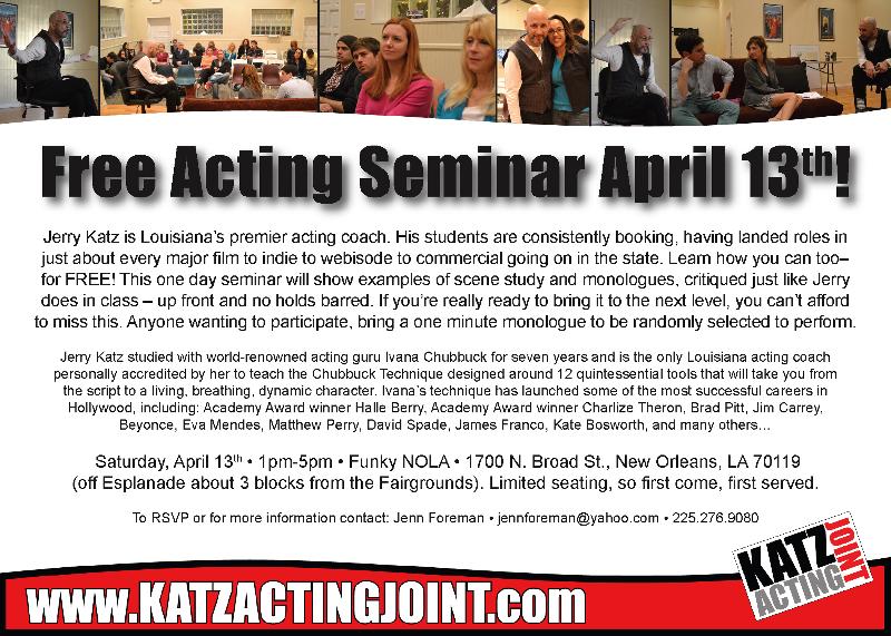 April 13 seminar