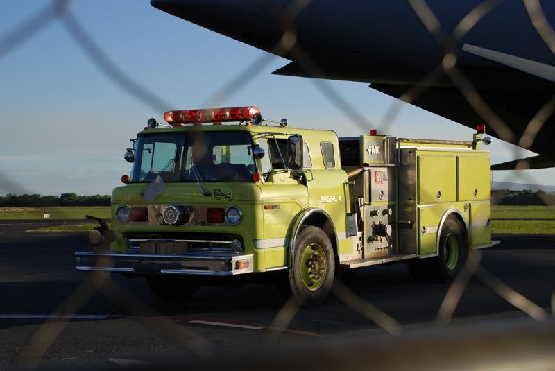 Fire Trucks unloading