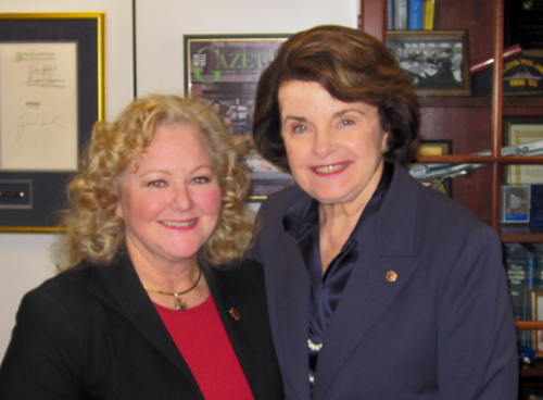 Nancy O'Malley & Diane Feinstein