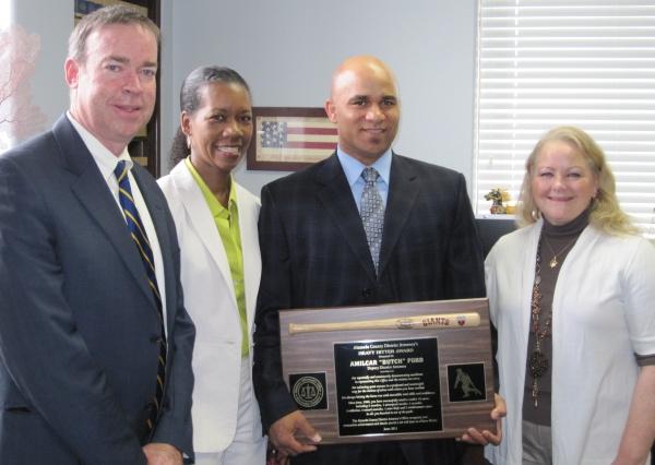 DDA Butch Ford receives Heavy Hitter Award