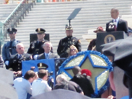 President Obama speaks at memorial