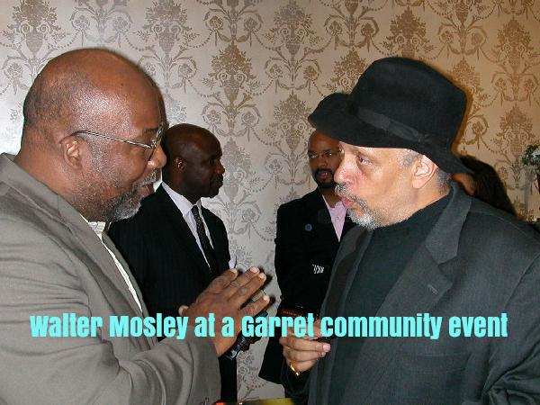 Walter Mosley at home with The Garret