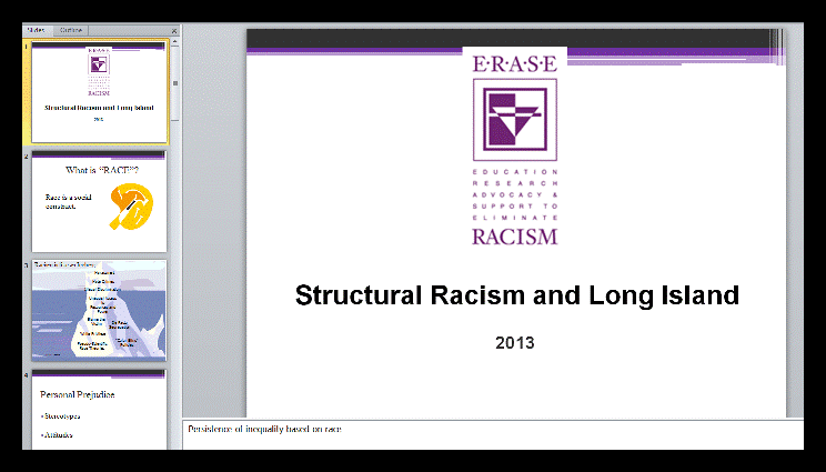 racism on long island Racism and the opportunity divide on long island prepared for the erase racism initiative of the long island community foundation funded by: long island community foundation and sustainable long island july 2002 2 the institute on race and poverty (irp), established in 1993 by john a powell, is a strategic research center located at the.