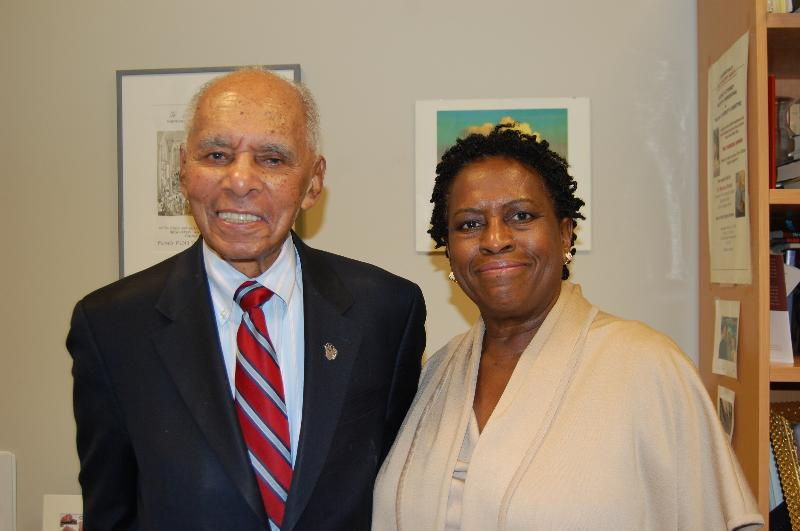 Dr. Brown and Elaine Gross