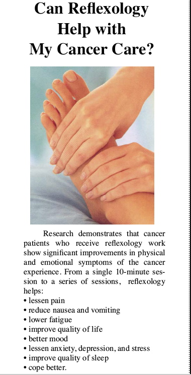 Cancer and reflexology brochure