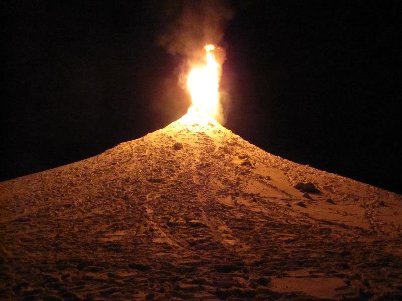 Snow volcano, Bethel WinterFest 2012