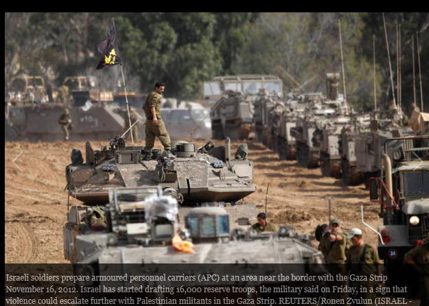 Israel stattions 75,000 troops on border