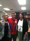 Tyler Morris with teachers
