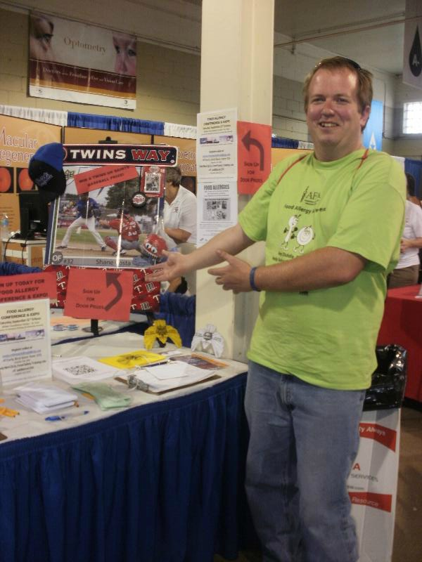 State Fair Booth with Volunteer Alonzo
