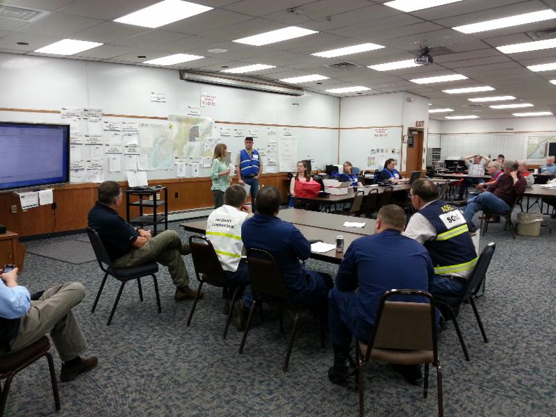 Participants evaluate the exercise.