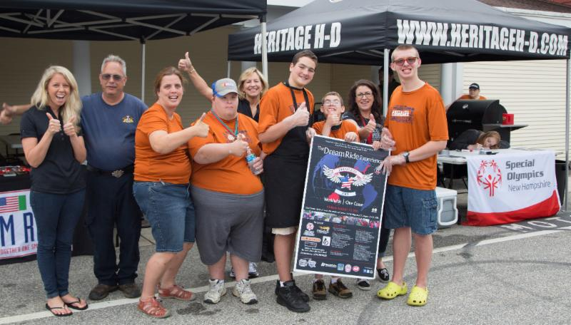 Special Olympics athletes at the Community BBQ in 2015_