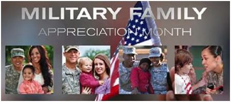 November is Military Family Appreciation Month