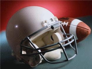 Football & Helmet