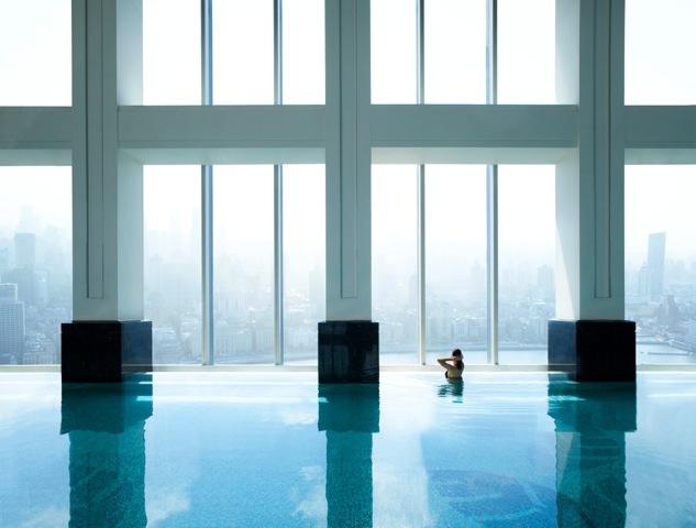 Swimming Pool at the Ritz Carlton Shanghai, Pudong