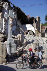 The Cross Amid the Rubble of Haiti's Cathedral