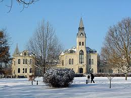 Anderson Hall in Snow