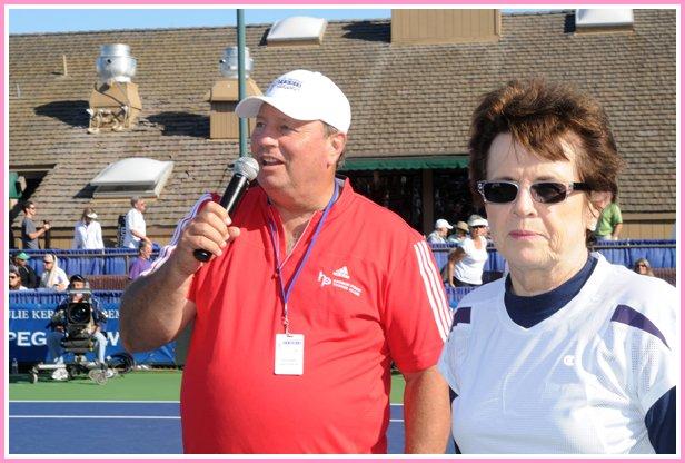 Bob Kaliski and Billie Jean King