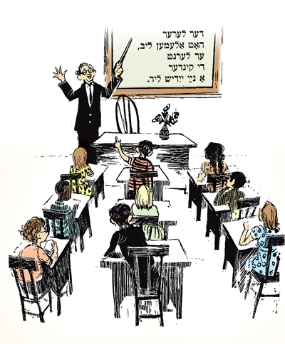 Sketch of Yiddish classroom