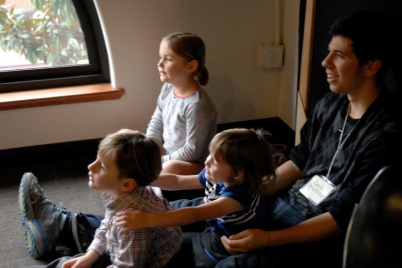 Kids listening to story