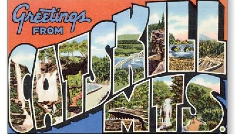 Catskills greetings postcard, 2nd try
