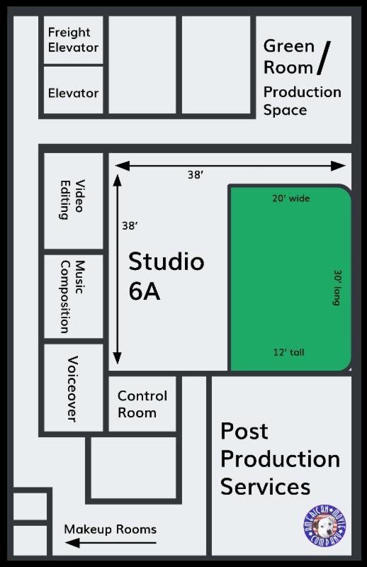 Floorplan Green Cyc Studio 6A