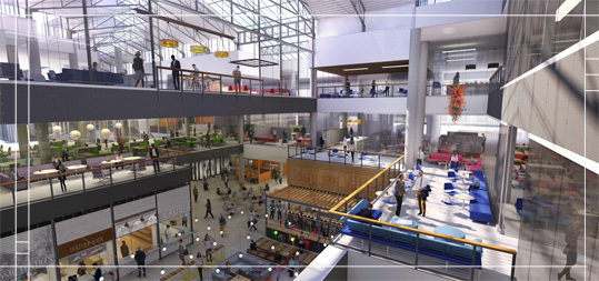 rendering of the future Grand Avenue commons