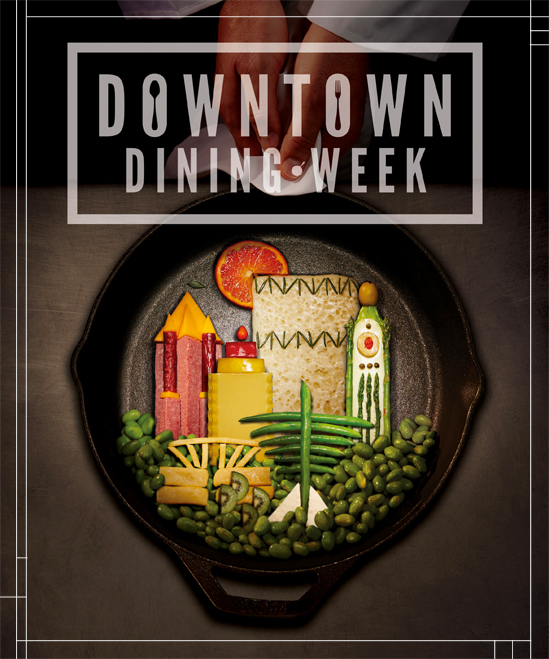 downtown dining week poster