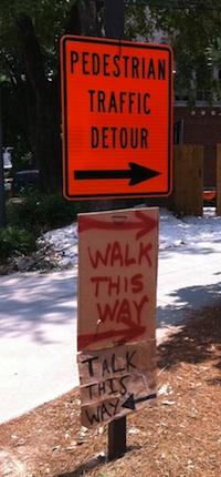 pedestrian sign