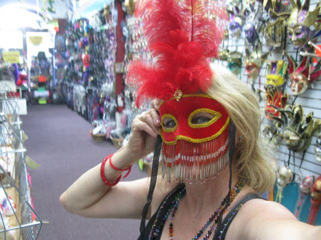 Jill in red mask