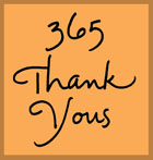 365 Thank Yous lettering