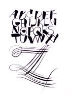 XYZ lettering