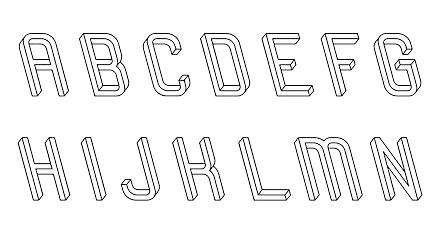 Frustro Font based on Escher perspective