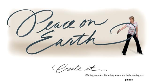 Peace on earth - create it