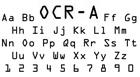 OCR typeface