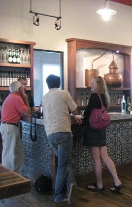 Tasting room at Finger Lakes Distilling