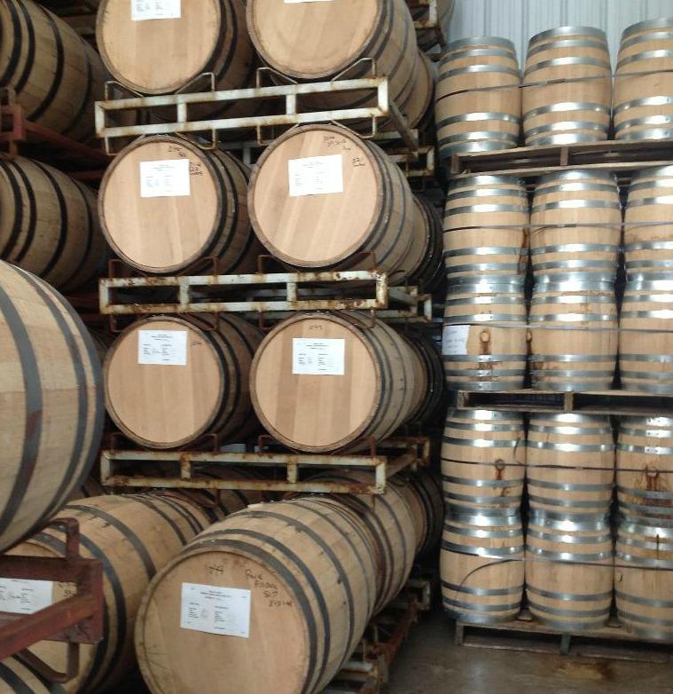 Small 10 gallon & Large 53 gallon barrels