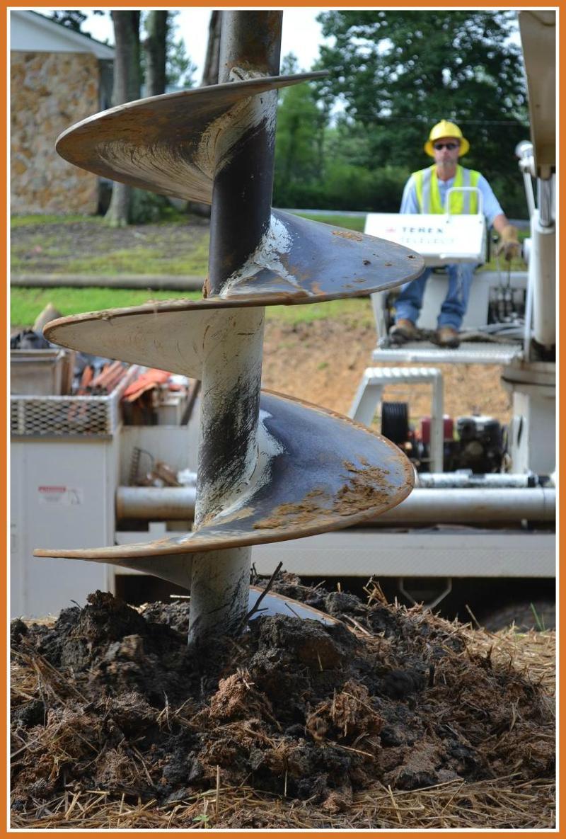 pole digging
