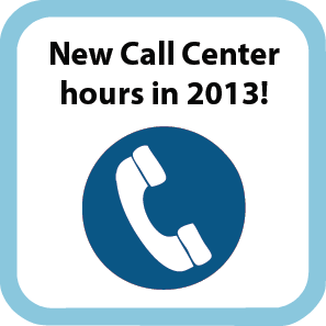 2013 call center hours