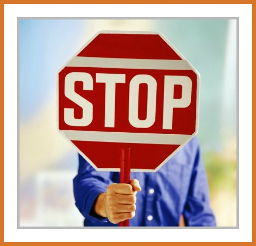 Stop sign_man holding