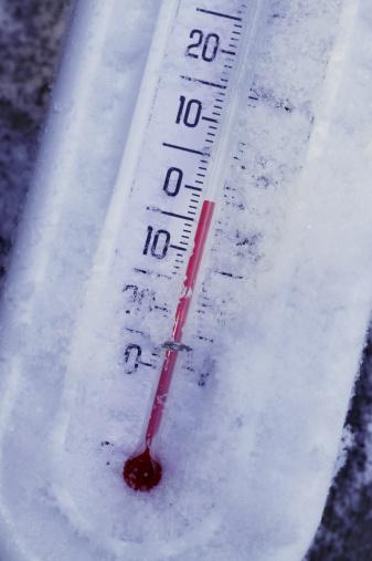 Below freezing