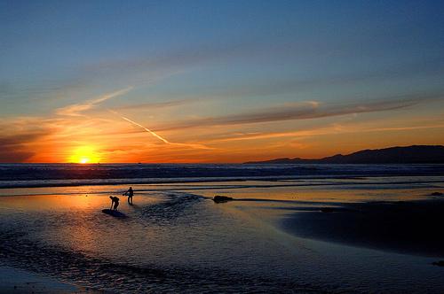 sunset surfing - 4