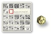 Zentangle Legend and Icosahedron