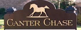 Canter Chase Info sign
