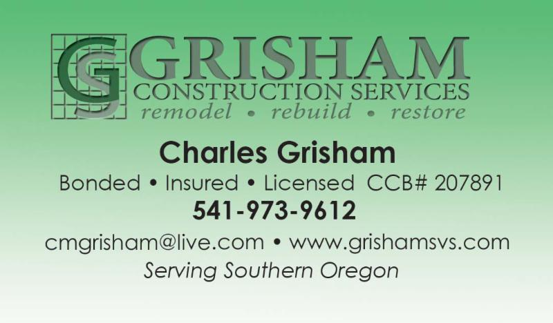 Charlie Grisham Business Card