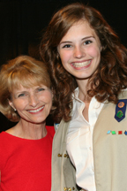 Suzanne Wade and Girl Scout L