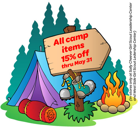 15% off camp items  sale